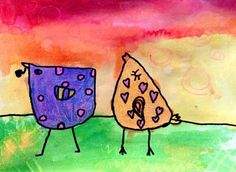 GVCS Artsonia- Love Birds by Bryleigh