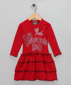 Ruby and Rosie Red Cupid Valentine Tiered Dress - Toddler & Girls by Ruby and Rosie on #zulily