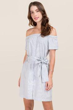 Lush Off Shoulder A-Line Dress