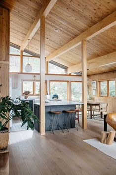 natural wood walls and ceiling and floors in malibu hills home. / sfgirlbybay