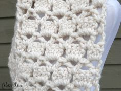 The Sugar Cookie Scarf is lofty, chunky, and extra cozy. Crocheted in a pretty stitch with super bulky yarn, the scarf works up e...