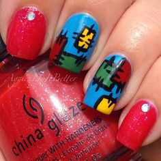Patchwork Nails by Aggies Do It Better