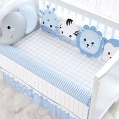 Baby Crib Bumpers, Baby Cribs, Baby Pillows, Kids Pillows, Baby's Day Out, Kit Bebe, Animal Sewing Patterns, Baby Kit, Cute Baby Pictures