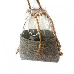 torby na ramię - unisex-Filcowa duża torba,plecak 2w1 sakwa worek unisex