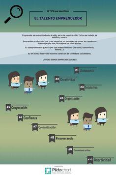 10 características del Talento emprendedor #infografia #infographic #entrepreneeurship
