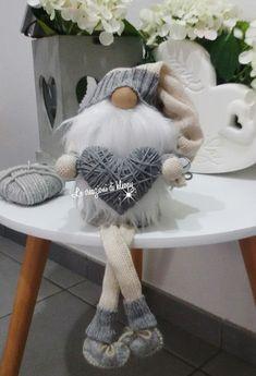 Gnomo di pannolenci riciclo maglione -le creazioni di kleopy