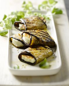 Grilled aubergine with halloumi Tapas Recipes, Veggie Recipes, Vegetarian Recipes, Cooking Recipes, Healthy Recipes, Veggie Bbq, Vegetarian Tapas, Tapas Ideas, Catering Recipes