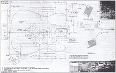 Fender Telecaster Blueprint 1980 CBS Telecaster Bass, Fender Guitars, Guitar Drawing, Guitar Art, Guitar Photos, Guitar Body, Guitar Building, Body Electric, Guitar Design