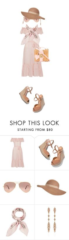 """""""Pinky"""" by klm62 ❤ liked on Polyvore featuring Lisa Marie Fernandez, Schutz, Ray-Ban, Jack Wills, Manipuri, Fernando Jorge and Mark Cross"""