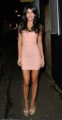 eda2f864f TOWIE star Jasmin Walia shows off her long legs in mini dress - Celebrity  Fashion Trends