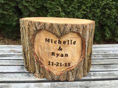 Large Log Wood Stump Rustic Cake Stand by TheShindiggityShoppe