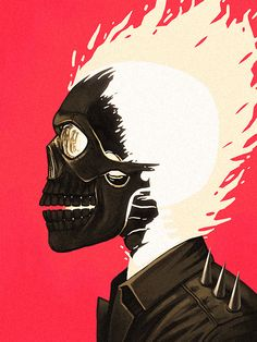Ghost Rider || The Marvel Character Portraits by Mike Mitchell
