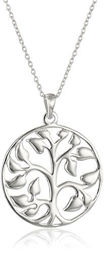 "Sterling Silver Family Tree Pendant Necklace, 18"" Amazon Collection-$20.28 http://www.amazon.com"