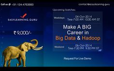 ‪#‎BIGDATA‬ & ‪#‎HADOOP‬ From EasyLearning Guru