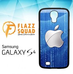 Silver Apple Logo X4611 Samsung Galaxy S4 Case