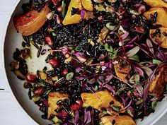 Black and Wild Rice Salad with Roasted Squash Recipe  | Epicurious.com