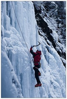 Ice climbing, I would give anything to be back in Alaska to do this again.