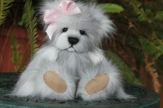 "15"" faux fur teddy bear.   http://www.kimbearlys.com ""SOLD"""