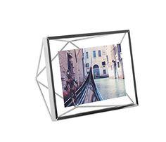 Umbra Prisma Picture Frame, 4 by 6-Inch, Chrome Umbra