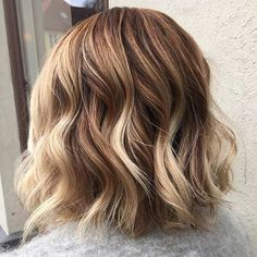 Chocolate Blonde Long Bob Hairstyle