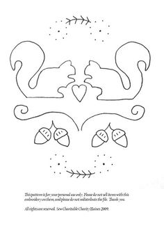 Squirrels in Love Pattern by sewcharitable, via Flickr