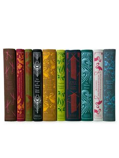 Penguin Classics Set of 10 by Juniper Books LLC on Gilt Home  Love these for a desplay bookcase gorgeous and good to have around for the kids to pick up