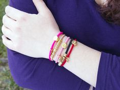 Because these look like charm bracelets, you'll actually want to wear them. They're jewelry for your wrists and hair.