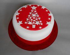 The Little Velvet Cake Company - Christmas Tree Cake Christmas Themed Cake, Mini Christmas Cakes, Christmas Cake Designs, Christmas Cake Decorations, Christmas Sweets, Christmas Cooking, Holiday Cakes, Christmas Tree, Christmas Ideas