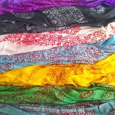 Our beautiful handmade Indian Mantra Scarves ॐ www.ohmboho.com ॐ