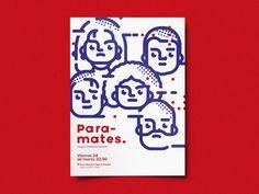design ep for paramates by Rafa San Emeterio Line Illustration, Graphic Design Illustration, Digital Illustration, Personal Project Ideas, Banners, Blue Poster, Gif Animé, Graphic Design Typography, Motion Design