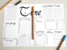 time bujo journal printable bujo wasted time planner organize home journaling mi dori agenda organizer notebook download lasoffittadiste