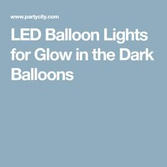 LED Balloon Lights for Glow in the Dark Balloons