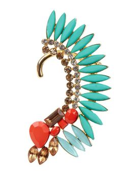 Warrior Ear Cuff ♥ #turquoise #coral  I would never wear this but it is really cool!