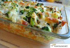 Zapiekanka z kurczakiem, ryżem i brokułami - Pomyslowi.net