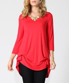 Loving this Red Convertible Tunic on #zulily! #zulilyfinds