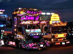 semi trucks art   Ever wondered what super blinged out Asian semi-trucks might look like ...