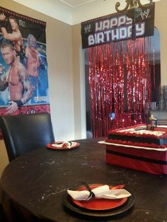 Wwe party, party city decorations
