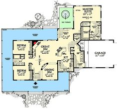 House plan 041 00082 european plan 2 000 square feet 4 for Classic underground house
