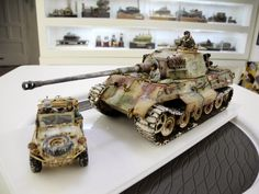 Mike Rinaldi's Tiger II and Roberto's Schwimmwagen for the company