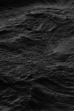 Nervous Water | I love the unspoken image-presentation on this shot! So simple and seemed silently conceptualize, yet i dig the roaring impact and especially the texture and mood in this photo! Black Sea, My Black, Shades Of Black, Black Water, Walpapers Hd, Color Negra, Black Is Beautiful, White Photography, Photos