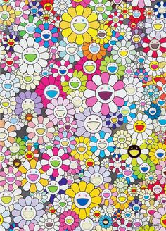 Superflat, Takashi Murakami Art, Murakami Flower, Gagosian Gallery, World Famous Artists, Art Japonais, Japanese Aesthetic, Pink And White Stripes, Illustration