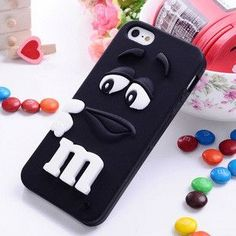 3D M&M Chocolate Case Cover For Coque iPhone 5C 4 6 6s 7 7plus Case Silicone Carcasa Funda For iPhone 5C Capinha phone bag case