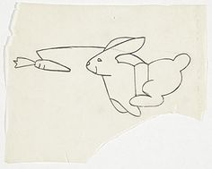 Citation: Study of running rabbit image used in numerous works, ca. 1982. Gary Falk papers, Archives of American Art, Smithsonian Institution.