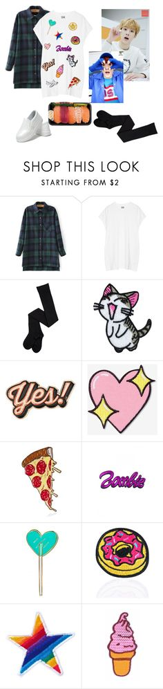"""""""day off with Sanha"""" by incandescencers ❤ liked on Polyvore featuring Oak, Anya Hindmarch, Big Bud Press, C&D Visionary, Kreepsville 666, Love and Madness, Ana Accessories and kpop"""