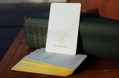 simple and chic business card with edge painting! @Rise and Shine Paper