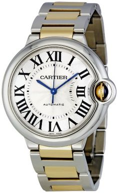 Cartier Men's W6920047 Ballon Bleu Steel and 18kt Gold Watch. Click to buy best watches for mens