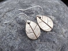Bronze, Leaf drop earrings, wood earrings, silver earwires, real leaf, bronze, silver, gift, handmade, dangle, ladies, birthday, Christmas, by silverwindsjewellery. Explore more products on http://silverwindsjewellery.etsy.com
