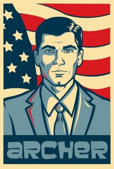 i saw one of these for killface who is a character on a earlier show of the characters of archer. I'm currently working on a remake of the one of killfa. ARCHER for President Archer Tv Show, Archer Fx, Archer Funny, Best Archer Quotes, Archer Cartoon, Sterling Archer, Character Concept, Martial, Canvases