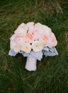 Pastel Peony Bouquet With Dusty Miller | photography by http://sarahkchen.net/