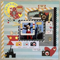 Happiest Place On Earth - Scrapbook.com - Documenting Disney is easy with Simple Stories Say Cheese II collection.